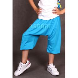 Spodnie dziecięce, dziewczęce, do tańca, ALLADYNKI, pumpy BLUE 2skin