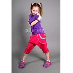 Spodnie dziecięce, dziewczęce, do tańca, pumpy ELECTRIC 2skin