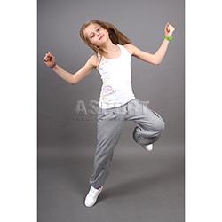 Koszulka młodzieżowa, do tańca, na ćwiczenia, bokserka MAGIC biała 2skin