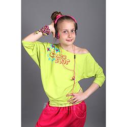 Bluzka dziecięca, młodzieżowa, do tańca, kimono, nietoperz SPONTANIC II lemon