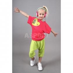 Bluzka dziecięca, młodzieżowa, do tańca, kimono SELENA raspberry 2skin