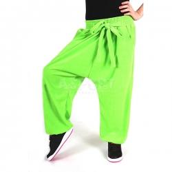 Spodnie dziecięce, dziewczęce, do tańca BAGGY GREEN 2skin