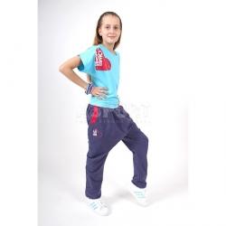 Spodnie dziecięce, dziewczęce, dresowe, do tańca COOPER KIDS jeans 2skin
