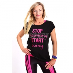 Koszulka damska, luźna, taniec, fitness ELECTRA 2skin