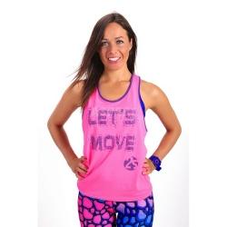Koszulka, top sportowy, na fitness, do tańca LET'S MOVE 2skin