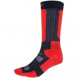 Skarpety narciarskie młodzieżowe, zimowe WARM JSOMN400 czerwone 4F