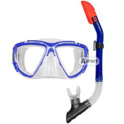 Fajka ZODIAC + maska BLAZER niebieski Aquatic