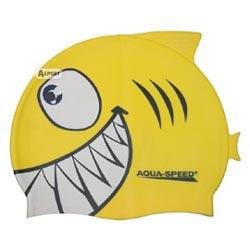 Czepek dziecięcy z nadrukiem SHARK rekin Aqua-Speed