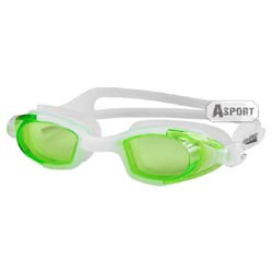 Okulary pływackie dziecięce MAREA JR biało-zielone Aqua-Speed