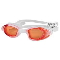 Okulary pływackie dziecięce MAREA JR biało-pomarańczowe Aqua-Speed