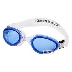 Okulary pływackie dziecięce SONIC JR biało-niebieskie Aqua-Speed