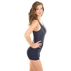 Str�j k�pielowy jednocz�ciowy ANNA 3kolory Aqua-Speed + czepek