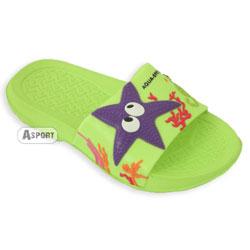 Dziecięce klapki basenowe STAR zielone Aqua-Speed