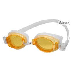 Okulary pływackie, uniwersalne ARTI biało-pomarańczowe Aqua-Speed