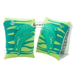 Dmuchane rękawki - motylki do pływania DELFIN 3-6 lat zielone Aqua-Speed