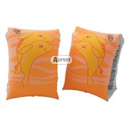 Dmuchane rękawki - motylki do pływania DELFIN 3-6 lat pomarańcz Aqua-Speed