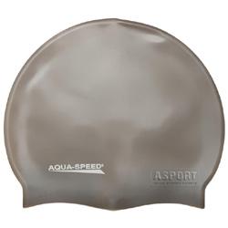 Czepek pływacki, silikonowy MEGA beżowy Aqua-Speed