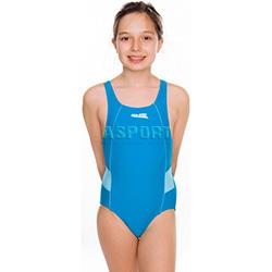 Strój kąpielowy jednoczęściowy, dziewczęcy RUBY turkusowy Aqua-Speed