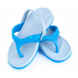 Dziecięce klapki basenowe, antypoślizgowe, z paskiem ROMA niebieskie Aqua-Speed