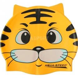 Czepek dziecięcy, silikonowy, z nadrukiem ZOO CAT Aqua-Speed