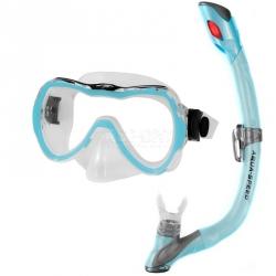 Fajka + maska nurkowa dla dzieci ENZO + EVO jasnoniebieska Aqua-Speed