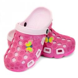 Dziecięce, młodzieżowe klapki basenowe HAWAII różowe Aqua-Speed