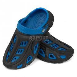 Dziecięce, młodzieżowe klapki basenowe MIAMI niebieskie Aqua-Speed