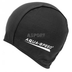 Czepek pływacki z poliestru POLYESTER CAP czarny Aqua-Speed