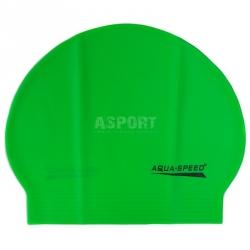 Czepek pływacki z lateksu SOFT LATEX zielony Aqua-Speed