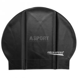 Czepek pływacki z lateksu SOFT LATEX czarny Aqua-Speed