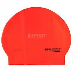 Czepek pływacki z lateksu SOFT LATEX pomarańczowy Aqua-Speed