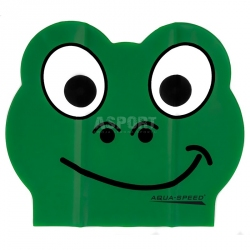 Czepek dziecięcy, lateksowy, z nadrukiem ZOO LATEX FROG Aqua-Speed