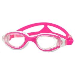 Okulary pływackie dziecięce CETO różowo-białe Aqua-Speed
