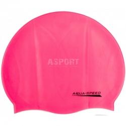 Czepek dziecięcy, pływacki z silikonu MONO różowy Aqua-Speed