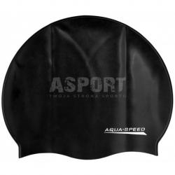 Czepek pływacki z silikonu MONO czarny Aqua-Speed