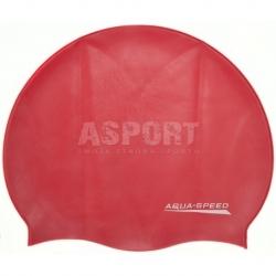 Czepek pływacki z silikonu MONO czerwony Aqua-Speed