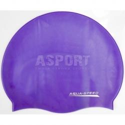 Czepek dziecięcy, pływacki z silikonu MONO fioletowy Aqua-Speed