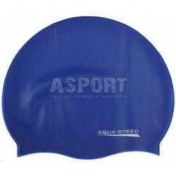 Czepek pływacki z silikonu MONO ciemnoniebieski Aqua-Speed