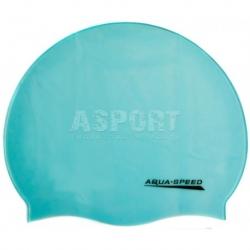 Czepek pływacki z silikonu MONO jasnoniebieski Aqua-Speed