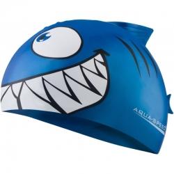 Czepek dziecięcy z nadrukiem SHARK rekin niebieski Aqua-Speed