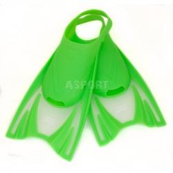 Dziecięce krótkie płetwy treningowe FROG zielone Aqua-Speed