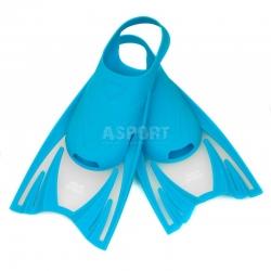 Dziecięce krótkie płetwy treningowe FROG niebieskie Aqua-Speed