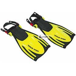 Płetwy dziecięce WOMBAT żółte Aqua-Speed