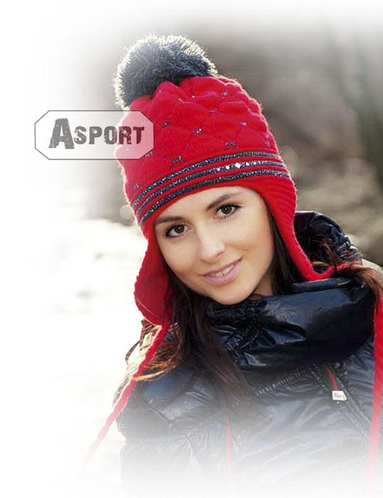 Czapka damska, uszatka, polarowa podszewka, wełna 50% FILPUCCI II 5kolorów Loman