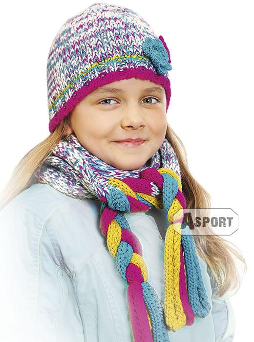Czapka dziecięca, dziewczęca HOUSTON 2kolory Loman