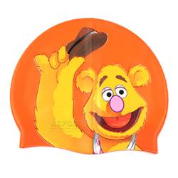 Czepek dziecięcy z silikonu MUPPETY pomarańczowy Disney