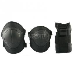 Ochraniacze dzieci�ce na nadgarstki, �okcie, kolana H110 BLACK