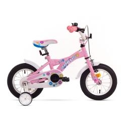 """Rower dzieci�cy, dziewcz�cy, stalowa rama, rozmiar 7"""" TOLA 12 r�owy Arkus"""