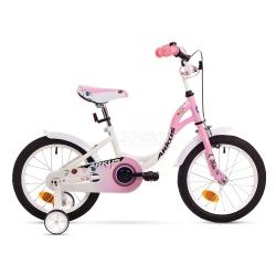 """Rower dzieci�cy, dziewcz�cy, stalowa rama, rozmiar 9"""" TOLA 16 S r�owy Arkus"""
