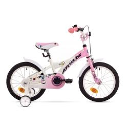 """Rower dzieci�cy, dziewcz�cy, stalowa rama, rozmiar 9"""" TOLA 16 Y r�owy Arkus"""